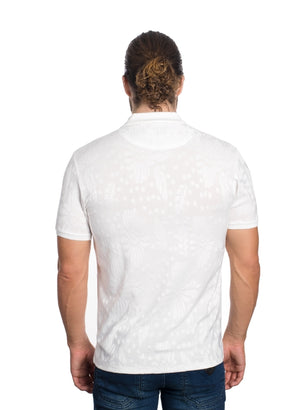 VSP-2028-WHITE SOLID POLO FLORAL IMPRINT 6PK