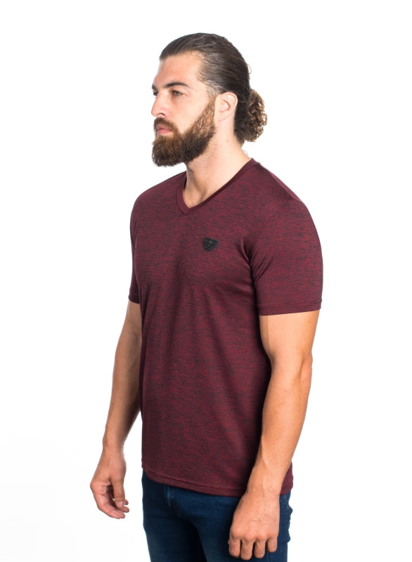 VSV-2020-BURGUNDY MEN'S SOLID V-NECK T-SHIRT 6PK