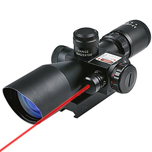 Hunting Rifle Scope 2.5-10x40e Red + Green Illuminated W/ 20mm + 11mm Mount