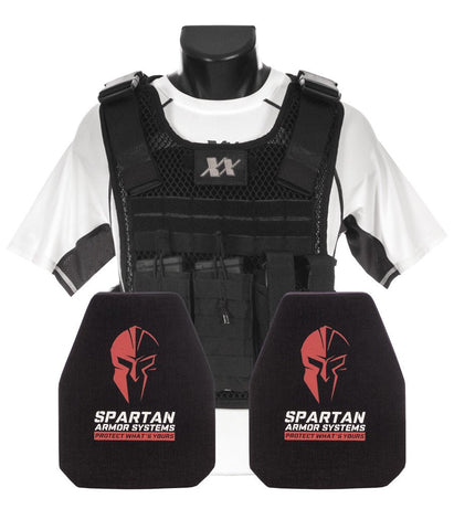 Phantom Plate Carrier with (2) 8x10 Ceramic BODY ARMOR 1UHMWPE LEVEL III