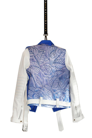 BLUE CARVED JACKET