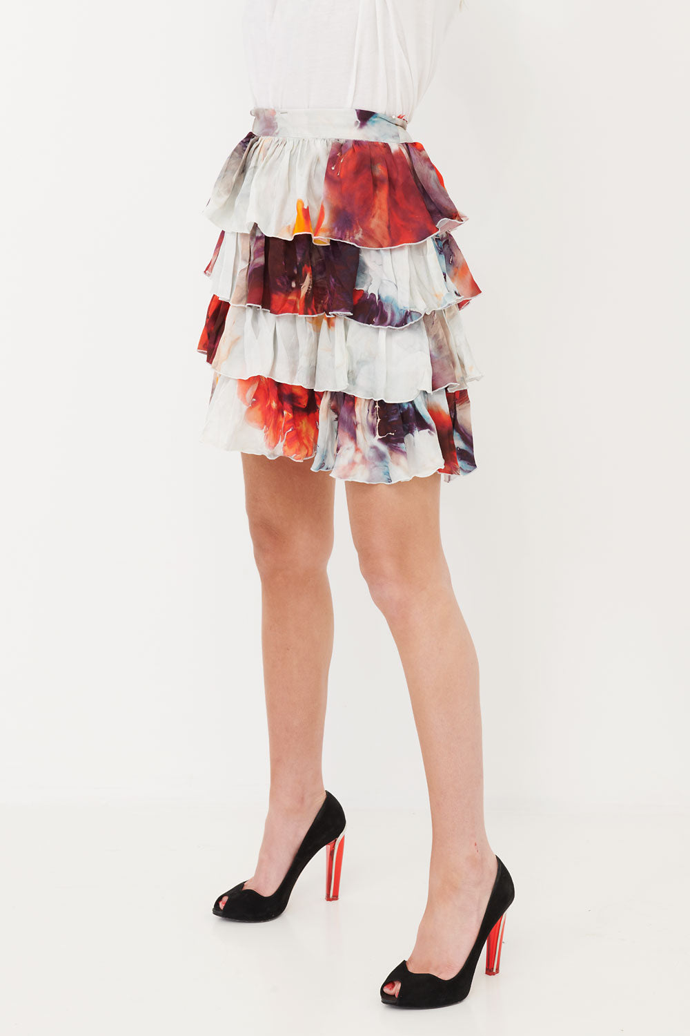 Frill Skirt Red