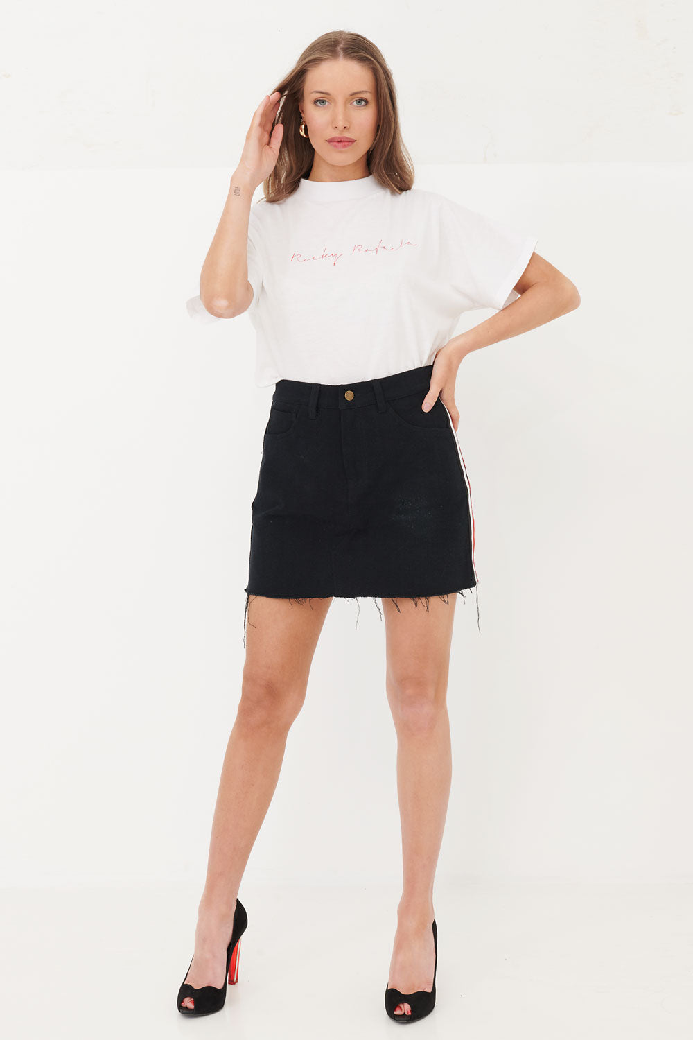 Eagle Denim Skirt