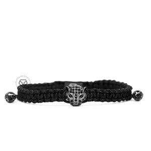 Jaguar Rhodium Black Cz - Black Rope