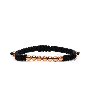 Sette Bracelet Rose Gold - Black Rope