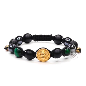Valuta Lion Gold & Green Tiger Eye