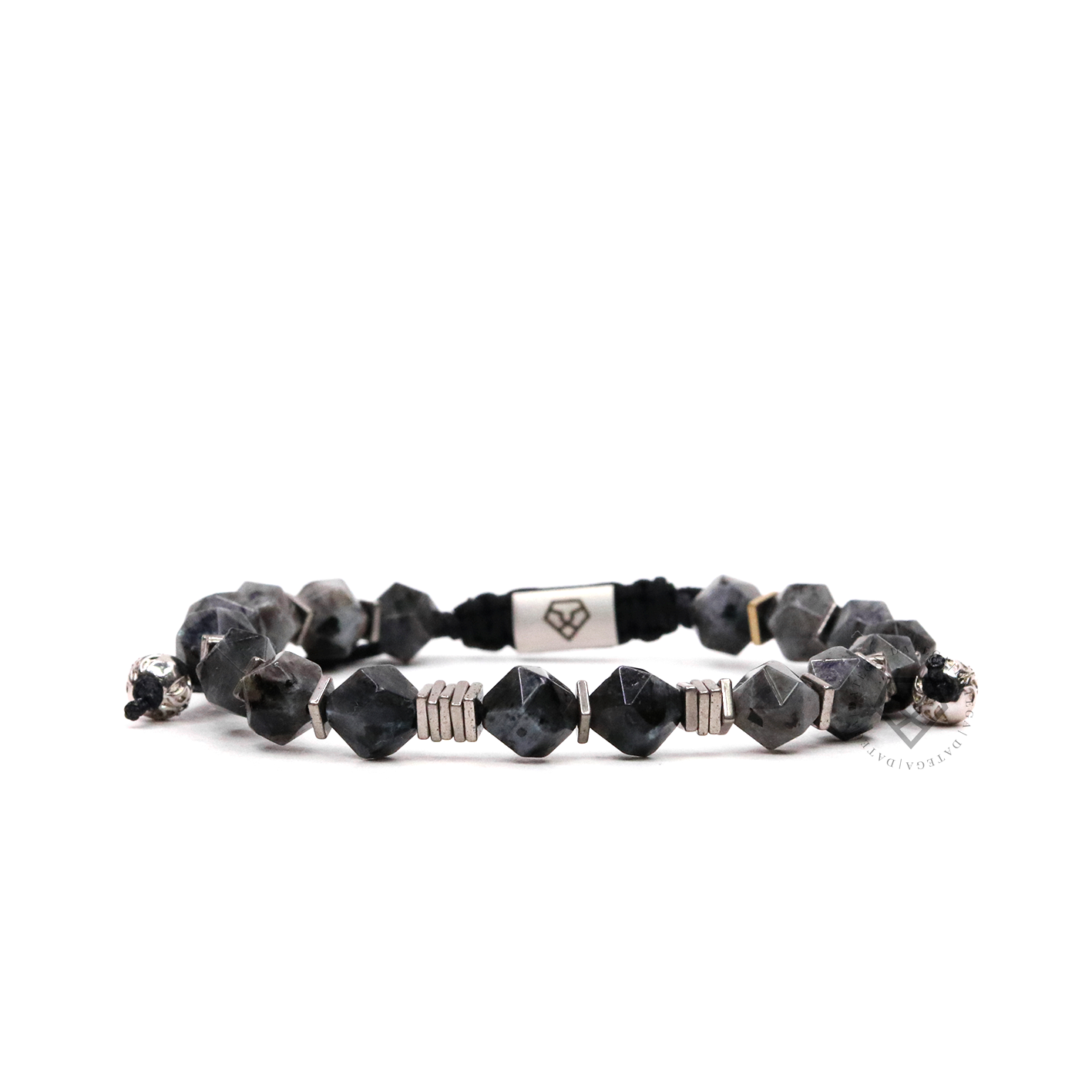 Rock Chain Dark Labradorite & White Plain Stoppers