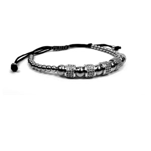 Rhodium 5 Clear Cz Barrel - Black Rope