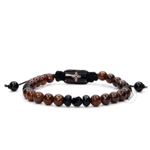 Bronzite & Faceted Onyx