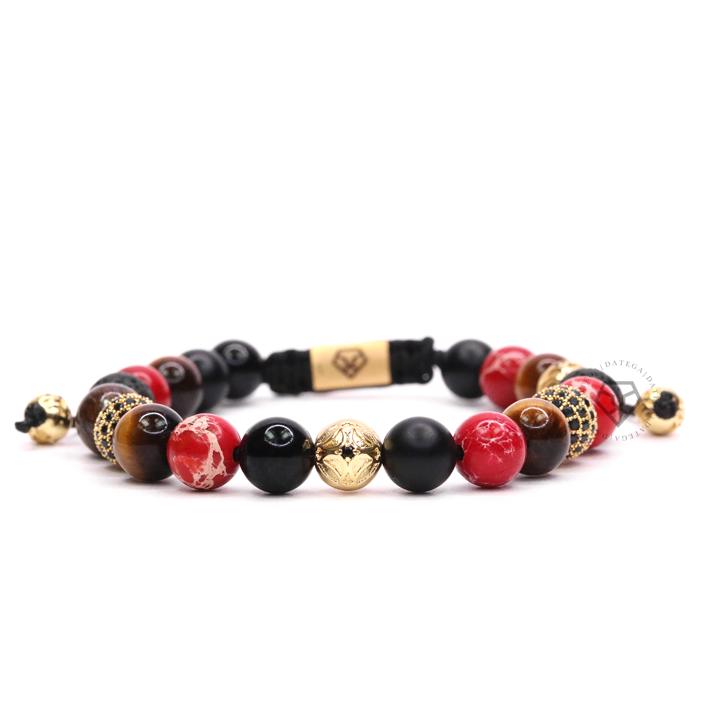 Red Jasper & Tiger Eye - Gold