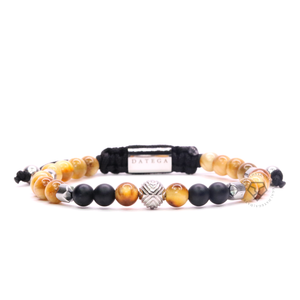 EXXE Sphere White Gold, Yellow Tiger Eye & Spike