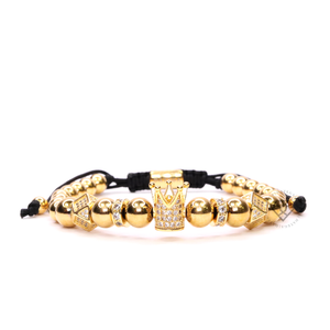 Yellow Gold Cz Crown & Alea