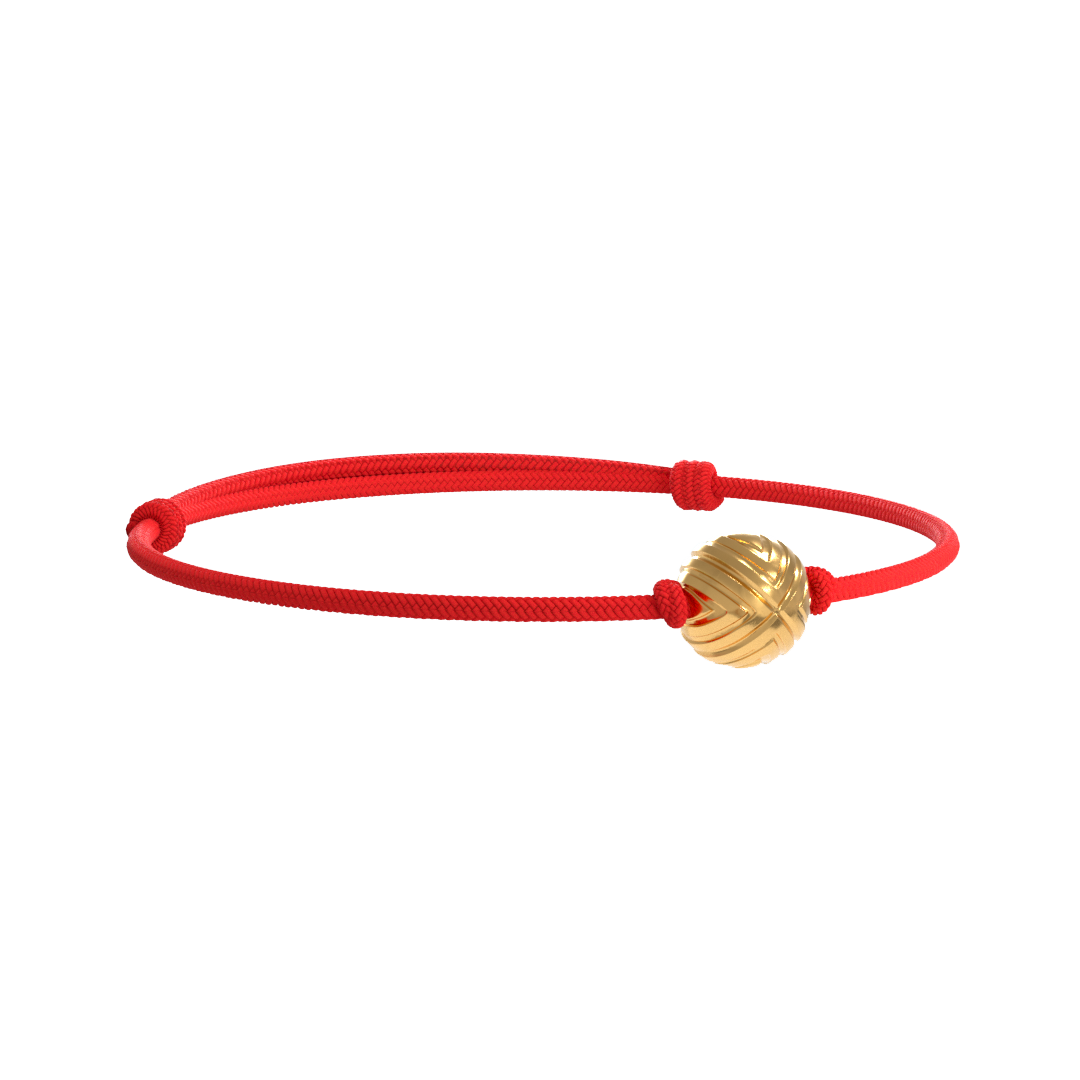 Solo EXXE Yellow  Gold - Red Rope