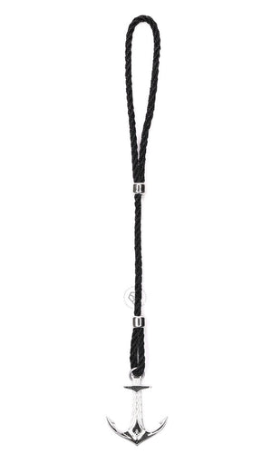 Rhodium DATEGA Anchor - Black Rope