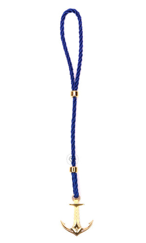 Yellow Gold DATEGA Anchor - Blue Rope