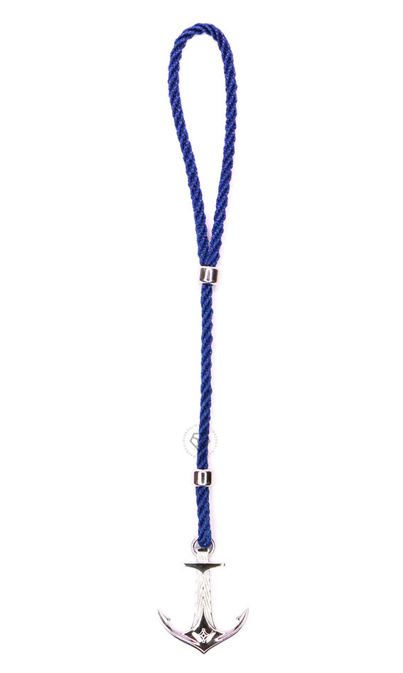 Rhodium DATEGA Anchor - Blue Rope
