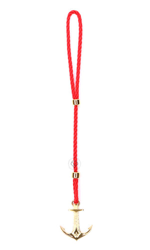 Yellow Gold DATEGA Anchor - Red Rope