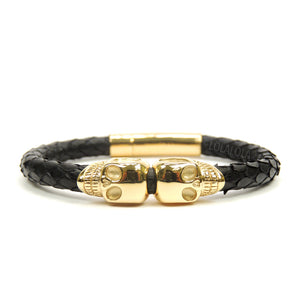 Twinskull Yellow Gold Black Python
