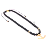 Yellow Gold & Onyx - Necklace