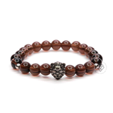 Lion Antique Silver & Smoky Quartz