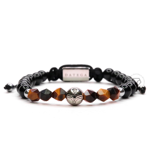 Tiger Eye Rock Chain & Onyx