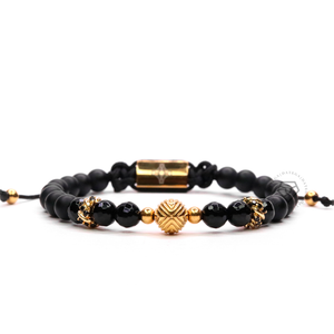 EXXE Sphere Yellow Gold, Rings & Faceted Onyx