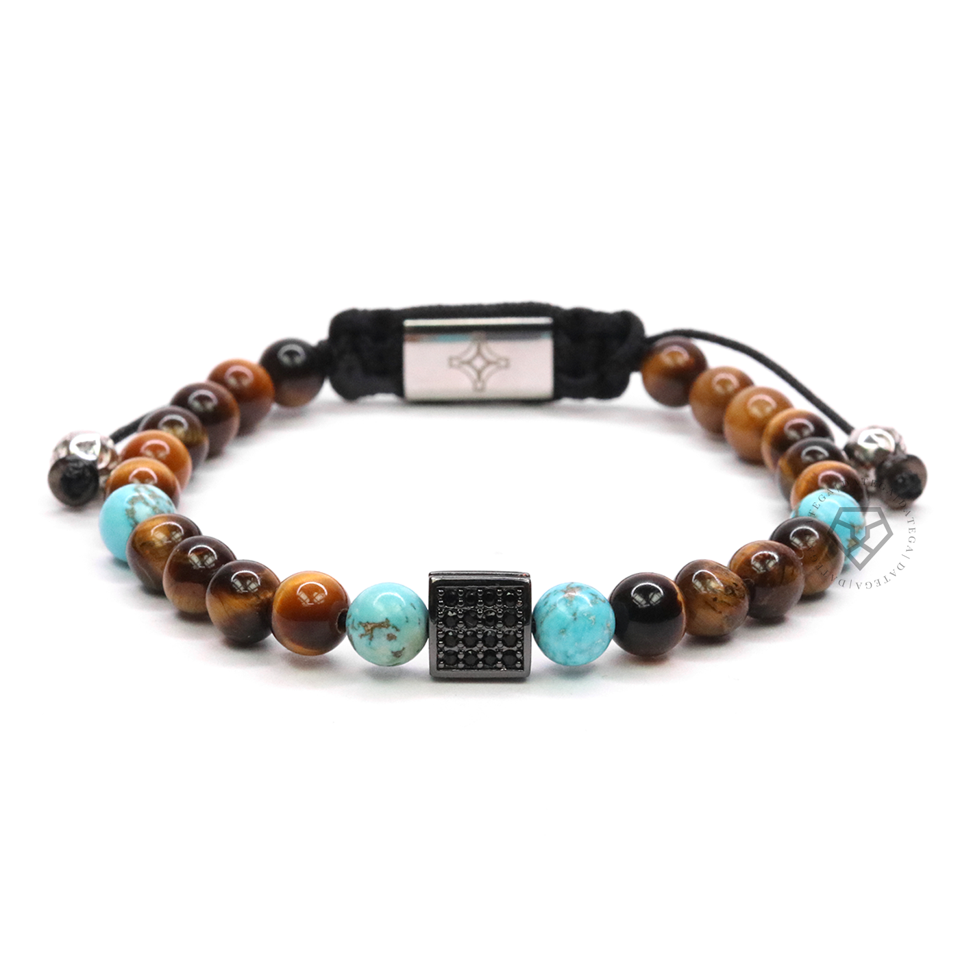 Turquoise, Tiger Eye & Square