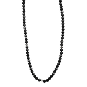 Matte Onyx & White Gold - Necklace