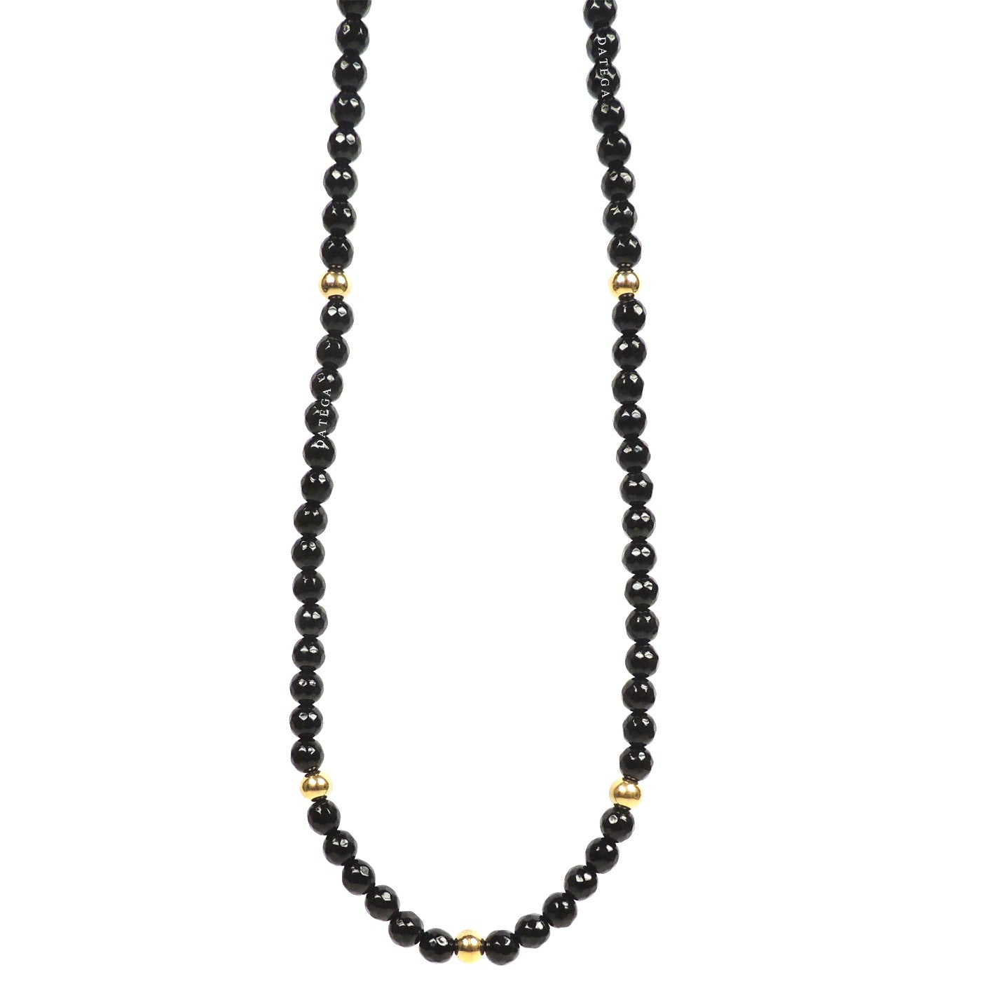 Agate Faceted & Gold - Necklace