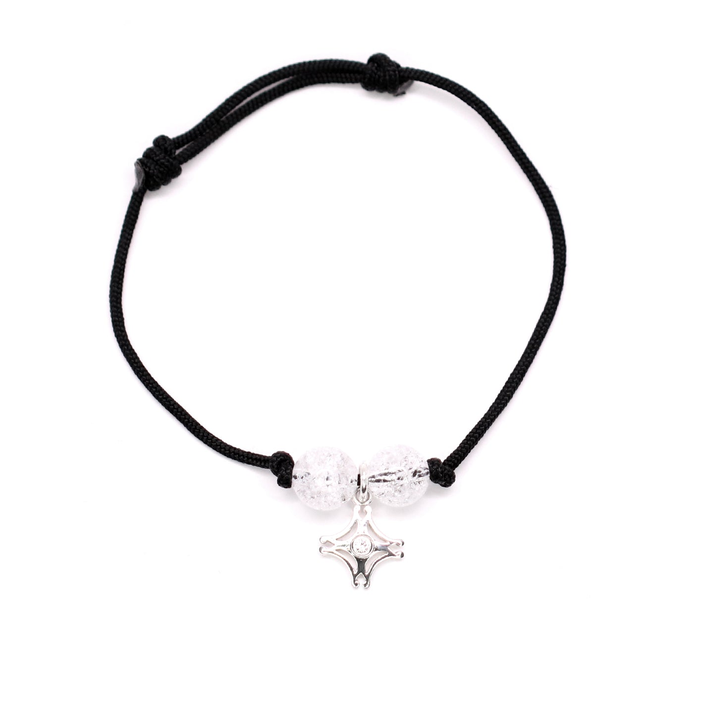 Insignia Emblema Rock Crystal - Black Rope