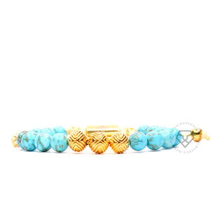 EXXE Sphere Yellow Gold & Turquoise