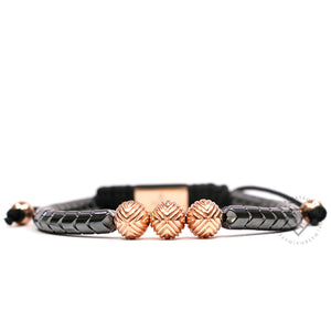 EXXE Sphere Rose Gold & Spike Hematite