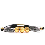 EXXE Sphere Yellow Gold & Spike Hematite