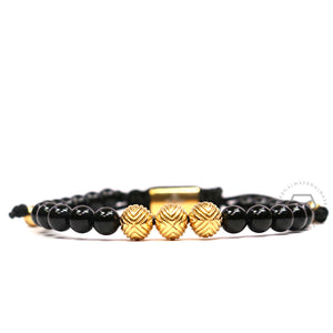 EXXE Sphere Yellow Gold & Onyx