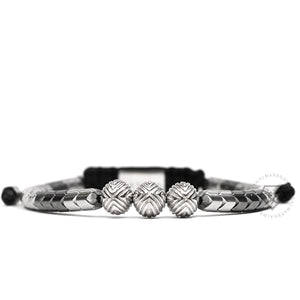 EXXE Sphere White Gold & Spike Hematite
