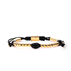 Yellow Gold Simple & Onyx Granade