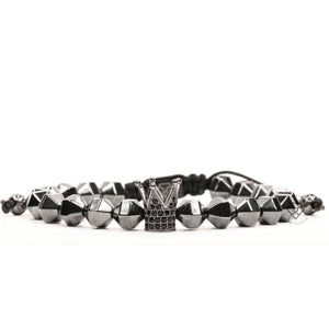 Rhodium Crown & Hematite
