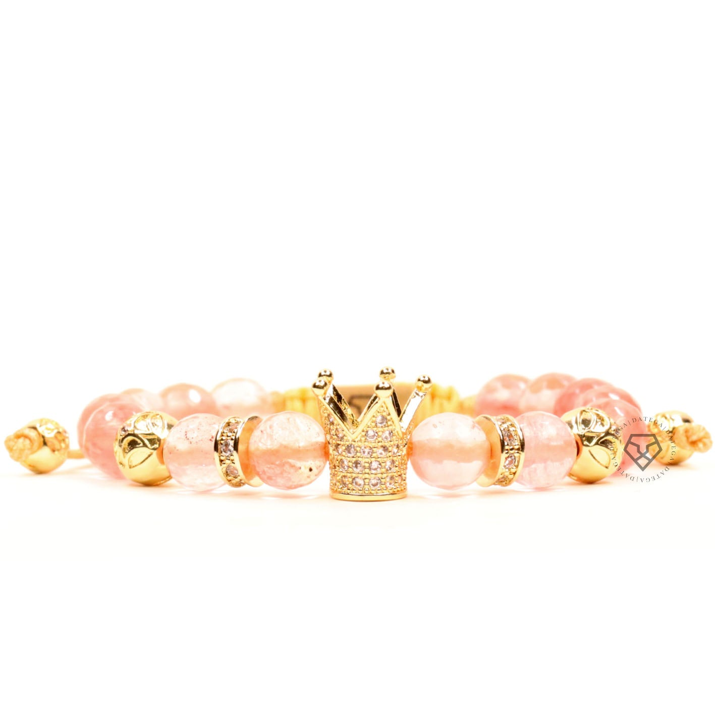 Yellow Gold Crown & Cherry Quartz