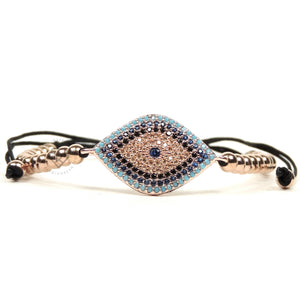 Rose Gold Cz Nazar Evil Eye