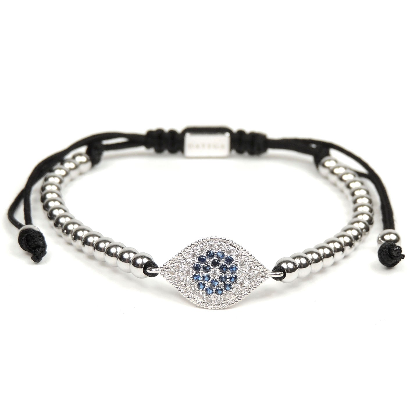White Gold Lucky Evil Eye Cz
