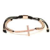 Rose Gold CZ Cross