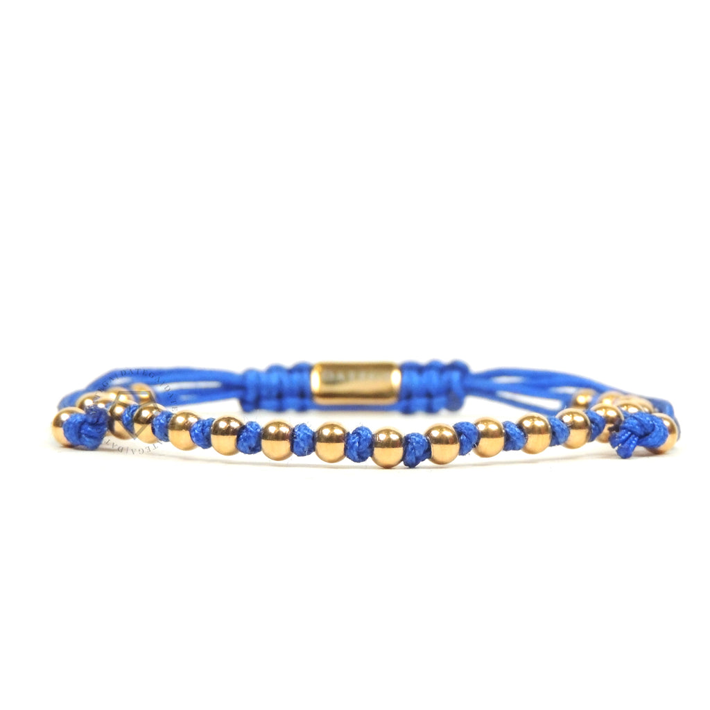 Yellow Gold Stoppers - Blue