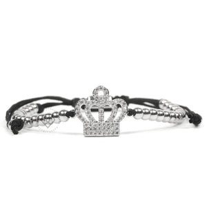 White Gold Cz Regal Crown