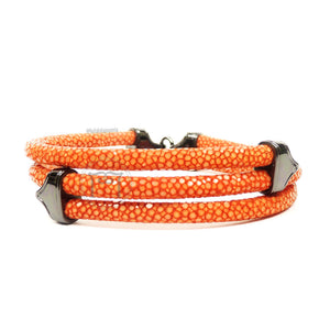 Clasp Ruthenium Triple Rope Orange Stingray
