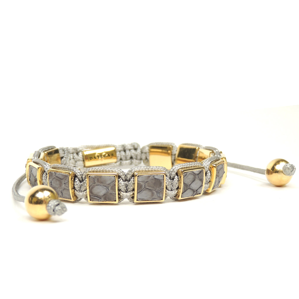 Square Yellow Gold Gray Python