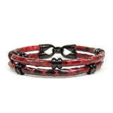 Rings Ruthenium Double Rope Red Python