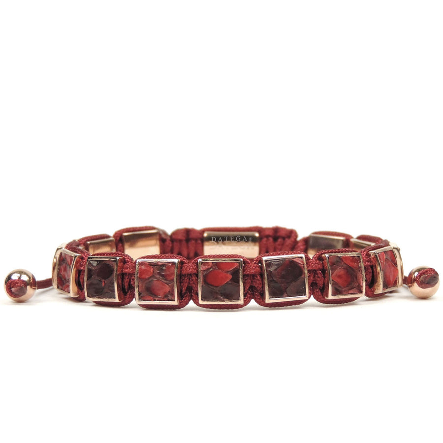 Square Rose Gold Red Python