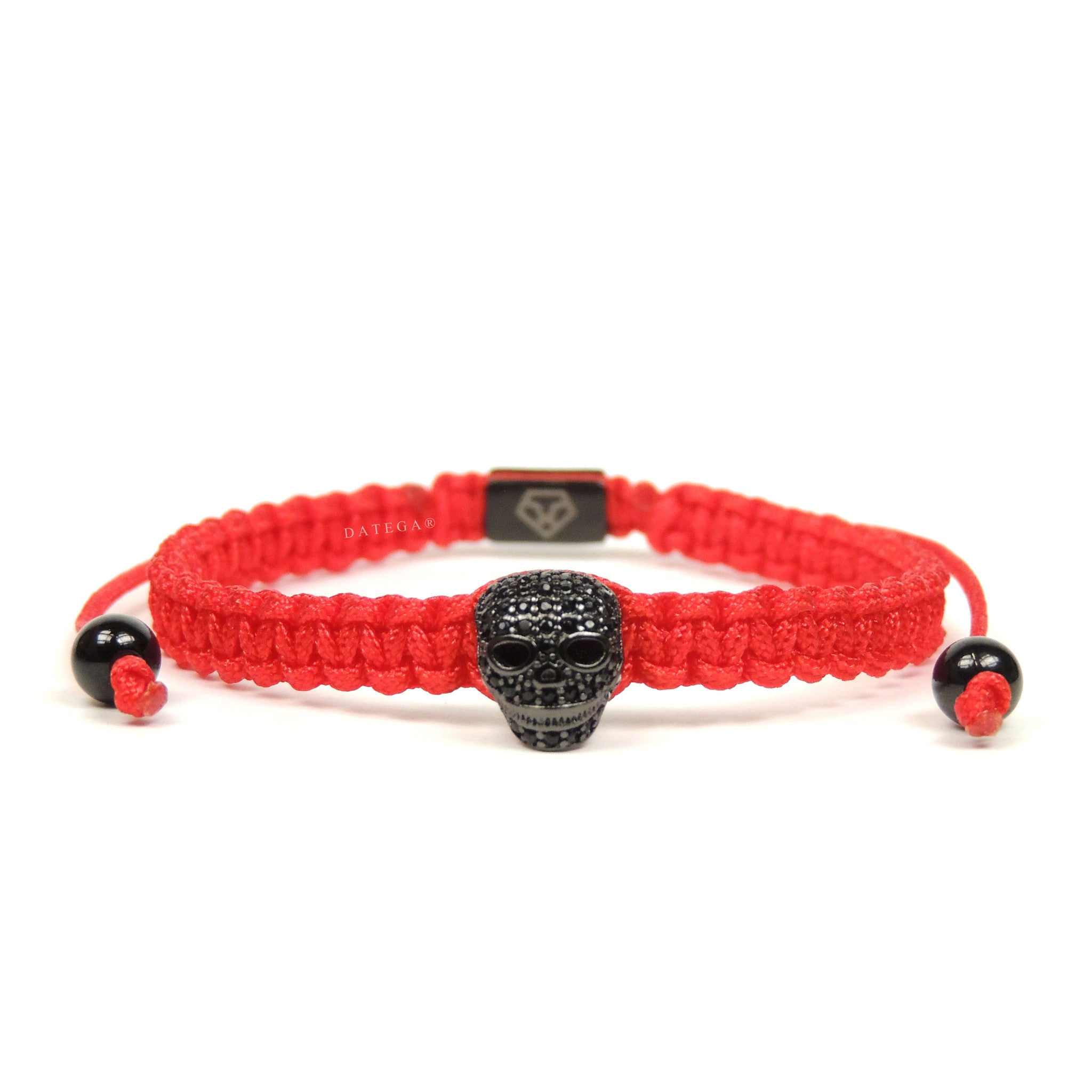 Luxury Skull Rhodium - Red Rope