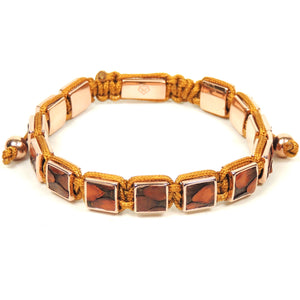 Square Rose Gold Brown Python