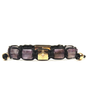 Amethyst & Yellow Gold Star Bracelet